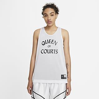 Nike Swoosh Fly Camiseta de básquetbol reversible para mujer