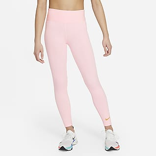 Nike One Träningsleggings med hög midja för tjejer