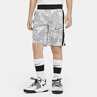 Nike Elite 大童(男孩)印花篮球短裤