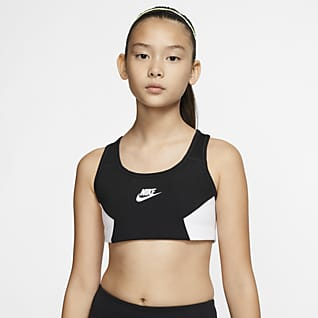 Nike Sujetador deportivo para niñas talla grande