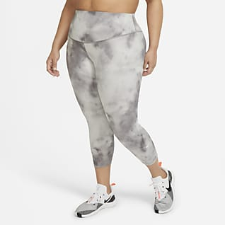 Nike One Icon Clash Leggings cortos de talle medio (Talla grande) - Mujer