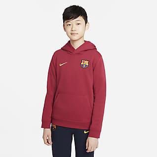 FC Barcelona Dessuadora amb caputxa i cremallera completa de teixit Fleece - Nen/a