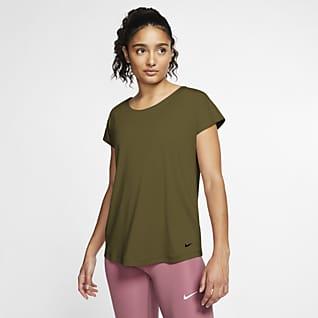 Nike Pro Dri-FIT Γυναικεία κοντομάνικη μπλούζα
