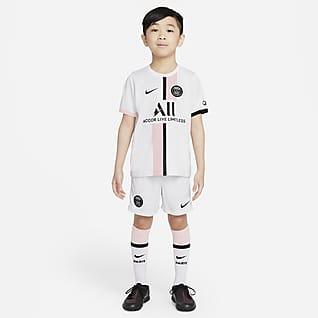 Paris Saint-Germain 2021/22 (wersja wyjazdowa) Strój piłkarski dla małych dzieci