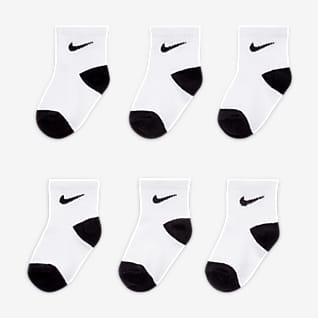 Nike Calcetines hasta el tobillo para niños pequeños (6 pares)