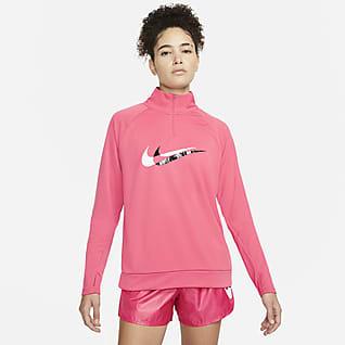 Nike Dri-FIT Swoosh Run Dámská běžecká střední vrstva sčtvrtinovým zipem