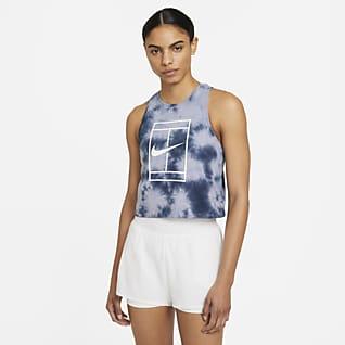 NikeCourt Camisola de ténis sem mangas com estampado tie-dye para mulher