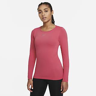 Nike Dri-FIT ADV Aura Trainingstop met aansluitende pasvorm en lange mouwen voor dames