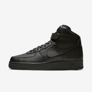 Black Air Force 1 High Top Shoes. Nike.com