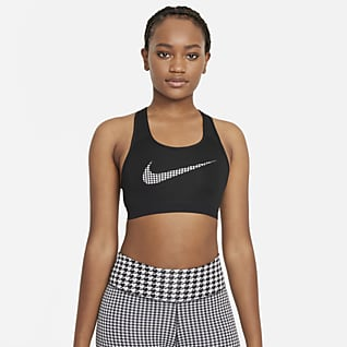 Nike Dri-FIT Swoosh Icon Clash Women's Medium-Support Non-Padded Graphic Sports Bra