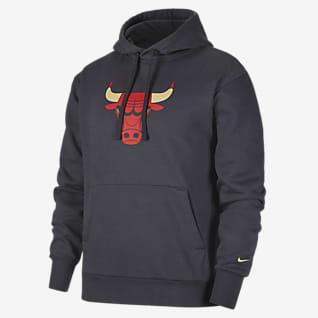 Chicago Bulls City Edition Logo Nike NBA-s belebújós, kapucnis férfipulóver