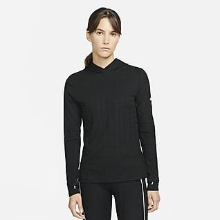 Nike Therma-FIT ADV Langærmet løbehættetrøje til kvinder