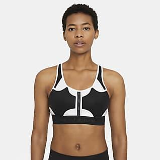 Nike Swoosh UltraBreathe Közepes tartást adó, párnázott női sportmelltartó