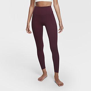 Nike Yoga Luxe Tights increspati Infinalon a 7/8 - Donna