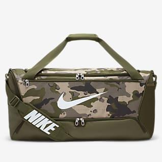 Nike Brasilia Träningsväska med kamouflagemönster (medium)