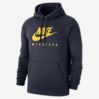 Nike College Club Fleece (Michigan) Men's Pullover Hoodie
