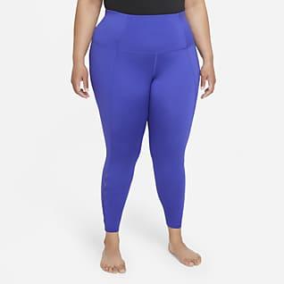 Nike Yoga Dri-FIT Leggings recortados de cintura alta de 7/8 para mujer (talla grande)