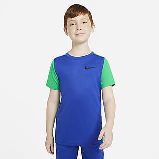 Nike Instacool Prenda superior de entrenamiento manga corta para niño talla grande