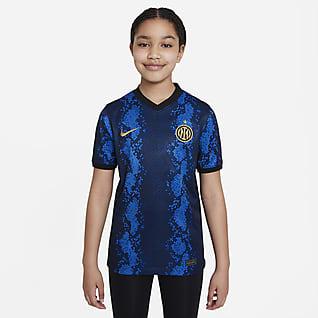 Inter Milan 2021/22 Stadium Home Older Kids' Nike Dri-FIT Football Shirt