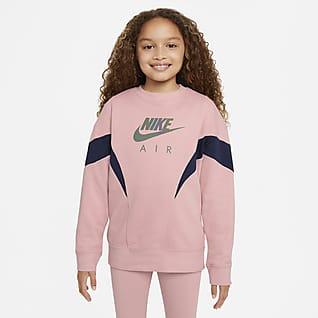 Nike Air Fransız Havlu Kumaşı Genç Çocuk (Kız Çocuk) Sweatshirt'ü