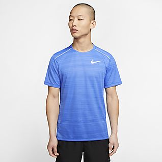Mens NIKE DRY T-Shirt NEW Blue /& Gray Short Sleeve Large