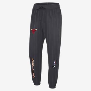 Chicago Bulls Showtime City Edition Calças NBA Nike Therma Flex para homem