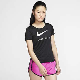 Nike Løbeoverdel med korte ærmer til kvinder