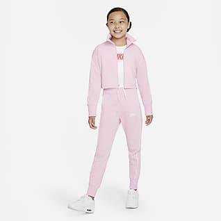 Nike Sportswear Tracksuit med hög midja för ungdom (tjejer)