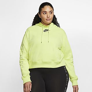 Nike Air Hættetrøje i fleece til kvinder (Plus Size)