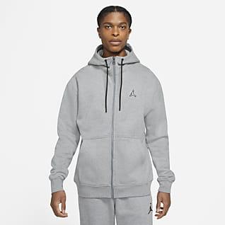Jordan Essentials Sudadera con capucha de tejido Fleece de cierre completo para hombre