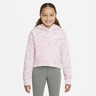 Nike Sportswear Fleecehoodie met print voor meisjes