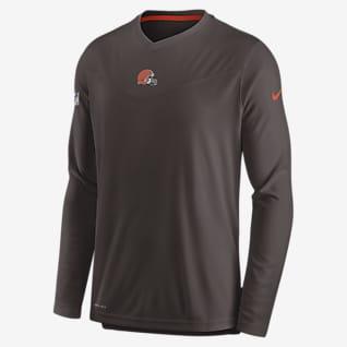 Nike Dri-FIT Sideline Coaches (NFL Cleveland Browns) Men's Long-Sleeve V-Neck T-Shirt