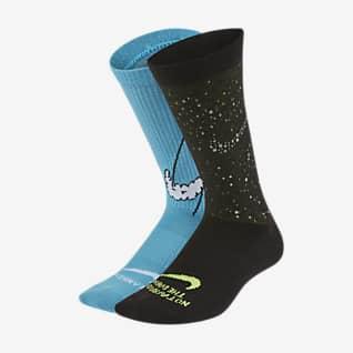 Nike Everyday Chaussettes mi-mollet légères pour Enfant (2 paires)