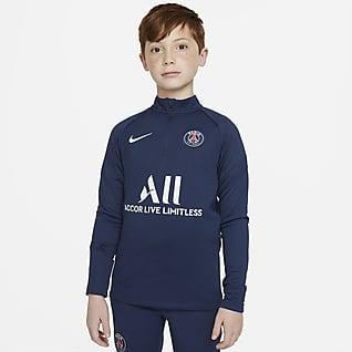 Paris Saint-Germain Academy Pro Nike Dri-FIT Fußball-Drill-Oberteil für ältere Kinder