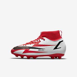 Nike Jr. Mercurial Superfly 8 Academy CR7 HG Little/Big Kids' Hard-Ground Soccer Cleats