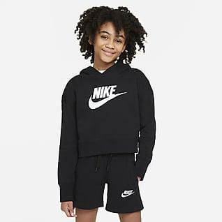 Nike Sportswear Club Hoodie recortado em tecido moletão Júnior (Rapariga)