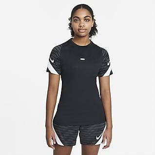 Nike Dri-FIT Strike Voetbaltop met korte mouwen voor dames