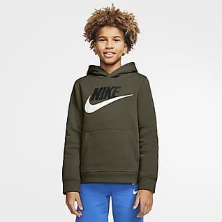 Nike Sportswear Club Fleece Μπλούζα με κουκούλα για μεγάλα παιδιά