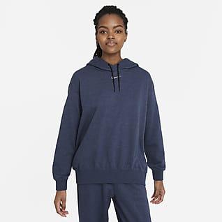 Nike Sportswear Collection Essentials Sudadera con gorro de tejido Fleece sencillo para mujer