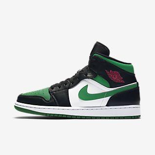 Air Jordan 1 Retro Magasszárú Premium Férfi Cipő Zöld Nike