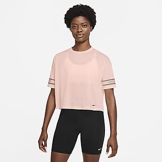 Nike Pro Prenda para la parte superior de manga corta con gráfico para mujer