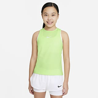 NikeCourt Dri-FIT Victory Tennissinglet til store barn (jente)