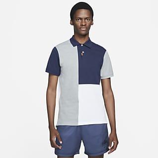 The Nike Polo Mønstret poloskjorte med fargeblokker i smal passform for herre