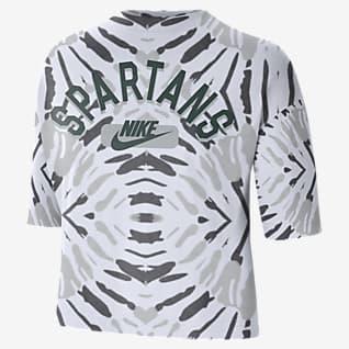 Nike College (Michigan State) Women's Boxy Printed T-Shirt
