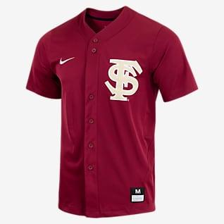 Nike College (Florida State) Men's Full-Button Baseball Jersey