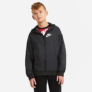 Nike Sportswear Windrunner Chamarra con capucha para niño talla grande