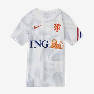 Niederlande Kurzarm-Fußballoberteil für ältere Kinder
