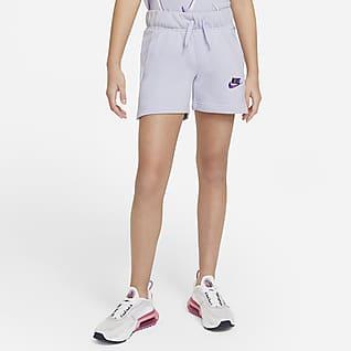 Nike Sportswear Club Spodenki z dzianiny dresowej dla dużych dzieci (dziewcząt)