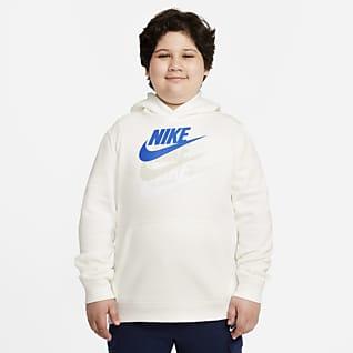 Nike Sportswear Sudadera con capucha sin cierre para niños talla grande (talla extendida)