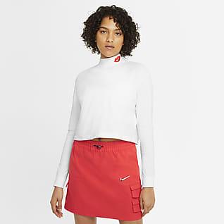 Nike Sportswear Damski T-shirt z długim rękawem i półgolfem